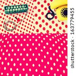 retro style collage | Shutterstock . vector #163779455