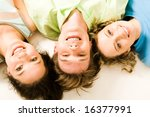 view from above of happy... | Shutterstock . vector #16377991