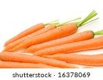 fresh carrots on white... | Shutterstock . vector #16378069