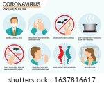 covid 19 or coronavirus 2019... | Shutterstock .eps vector #1637816617