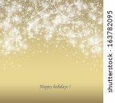 elegant christmas background... | Shutterstock . vector #163782095