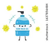 hand wash gel vector. hand wash ... | Shutterstock .eps vector #1637856484