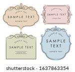 simple elegant frame label set | Shutterstock .eps vector #1637863354