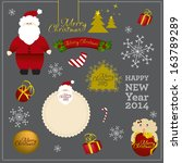 christmas 2013 design elements. | Shutterstock .eps vector #163789289