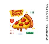 pizza cartoon vector banner ui...