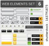 web design elements set. vector ... | Shutterstock .eps vector #163791875