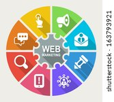 info graphic about web... | Shutterstock .eps vector #163793921