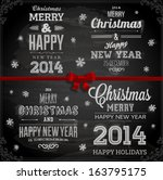 christmas decoration collection ... | Shutterstock .eps vector #163795175