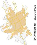 riyadh city map | Shutterstock .eps vector #163795421