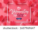 valentine's day sale 50  off... | Shutterstock .eps vector #1637969647