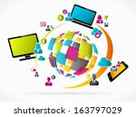 abstract internet concept | Shutterstock .eps vector #163797029