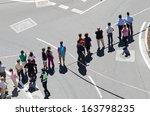 pontevedra   august 26  detail... | Shutterstock . vector #163798235