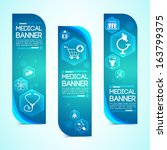 Medical banners set. Design concept. Design concept. Vector Illustration, eps 10, contains transparencies.