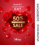 happy valentine's day rose sale ... | Shutterstock .eps vector #1638009244