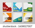 sport social media post...   Shutterstock .eps vector #1638027007