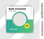 social media pack. business... | Shutterstock .eps vector #1638041404