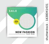 social media pack. business... | Shutterstock .eps vector #1638041431