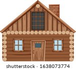 Single Wooden Cottage With Doo...