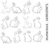 beautiful rabbit art vector... | Shutterstock .eps vector #1638105871