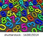 digital background.  from zero... | Shutterstock . vector #163815014