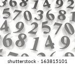 digital background.  from zero... | Shutterstock . vector #163815101