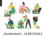 gardening people set  spring ... | Shutterstock .eps vector #1638154261