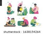 gardening people set  spring ... | Shutterstock .eps vector #1638154264