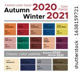fashion color trend autumn... | Shutterstock .eps vector #1638159721