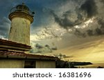 old lighthouse over the city of ... | Shutterstock . vector #16381696