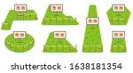 illustration of land for sale... | Shutterstock .eps vector #1638181354