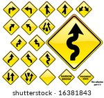 road signs yellow series  19...   Shutterstock .eps vector #16381843