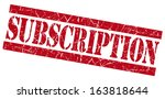 subscription red grunge stamp | Shutterstock . vector #163818644