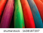 Colorful Kayak Arranged For Th...