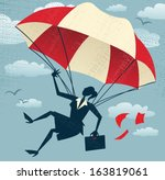 abstract businesswoman uses her ... | Shutterstock .eps vector #163819061