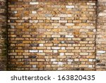 London Yellow Brick Wall With...