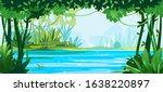 river flows through the jungle... | Shutterstock .eps vector #1638220897