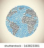green people over pattern... | Shutterstock .eps vector #163823381
