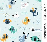 childish seamless pattern with... | Shutterstock .eps vector #1638237514
