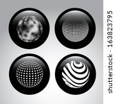 spheres design  over gray... | Shutterstock .eps vector #163823795