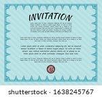 light blue invitation. vector... | Shutterstock .eps vector #1638245767