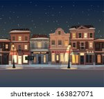 christmas town illustration.... | Shutterstock .eps vector #163827071