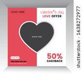 valentine's day offer template... | Shutterstock .eps vector #1638272977