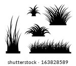 tall grass silhouette. Grass Silhouette Presets - Realistic Vector Element Template Tall S
