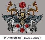 Illustration Human Death Skull...