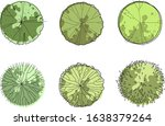 architecture sketch green trees ... | Shutterstock .eps vector #1638379264