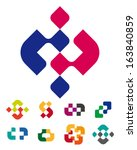 design abstract logo vector... | Shutterstock .eps vector #163840859