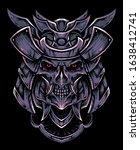 oni samurai head vector...   Shutterstock .eps vector #1638412741