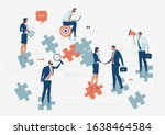 business solution group of... | Shutterstock .eps vector #1638464584