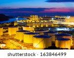 oil tanks at night | Shutterstock . vector #163846499