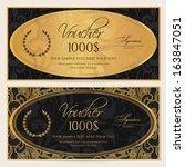 voucher  gift certificate ... | Shutterstock .eps vector #163847051